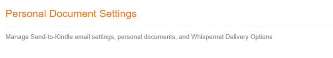 Android Web To Kindle Personal Document Settings