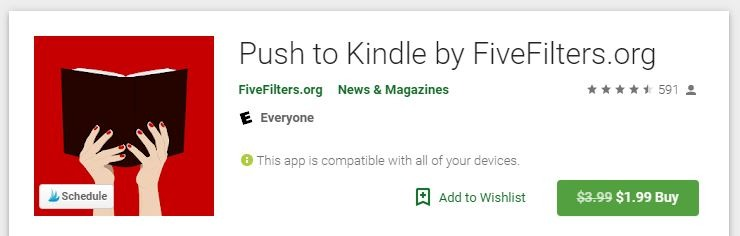 Android Web To Kindle Push To Kindle Play Store