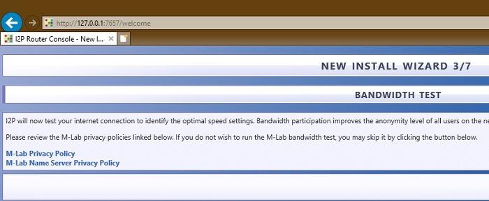 Bandwidth Test I2p