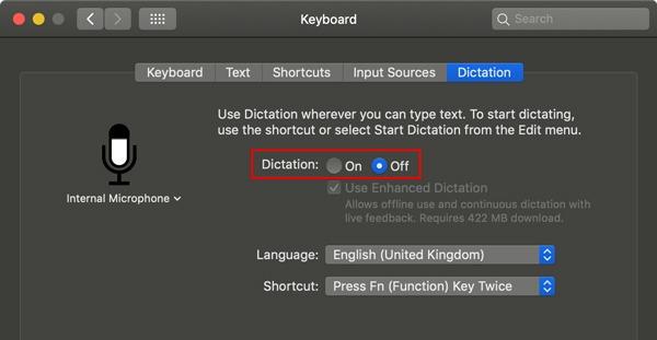 Disable Siri Turn Off Dictation