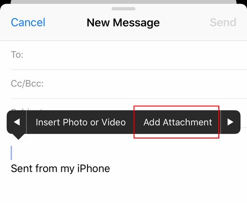 Email Attachments Ios Add Attachment