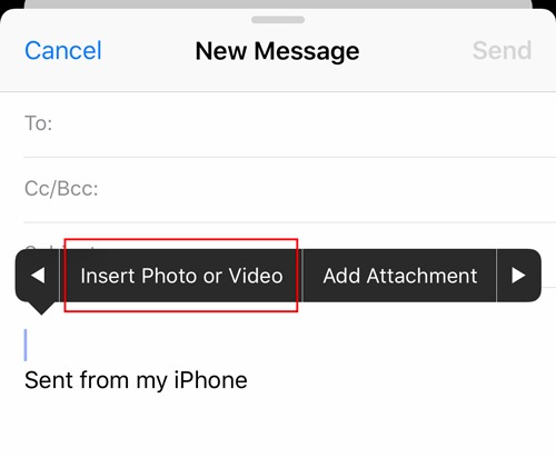 Email Attachments Ios Insert Photo