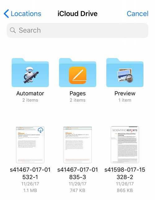 Email Attachments Ios Icloud Drive