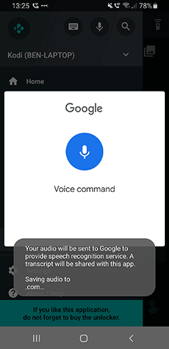 Kodi Voice Control Yatse