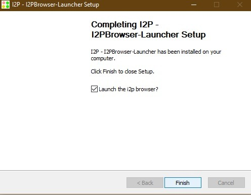 Launching I2p Browser