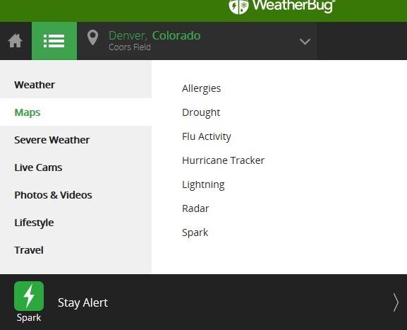 Maps Weather Bug