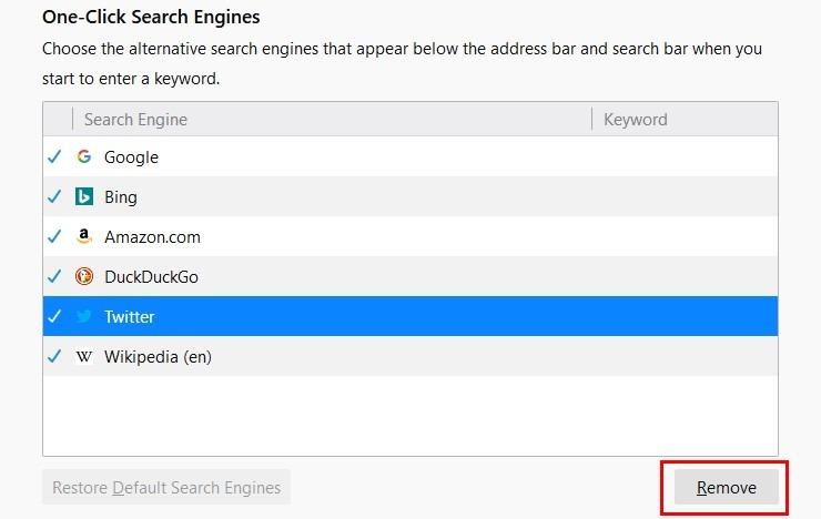 Search Remove
