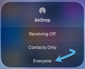 Fix Airdrop Problems Set Receiving Everyone Ios