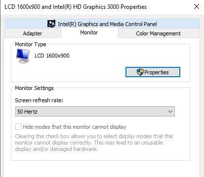 Flickering Monitor Windows Screen Refresh Rate