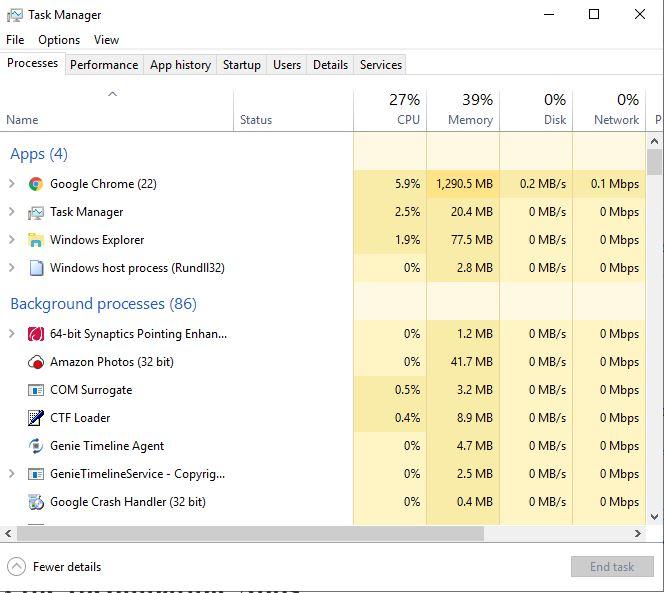 Flickering Monitor Windows Task Manager