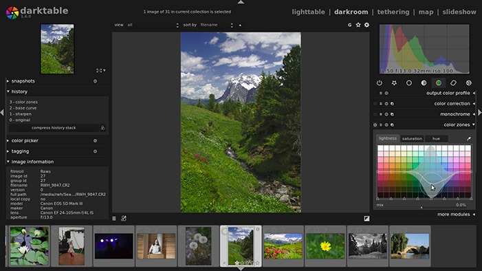 Free And Cheap Lightroom Replacement Darktable
