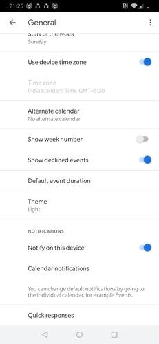 Google Calendar Quick Response