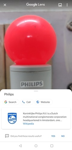 Google Lens Object Analysis Options