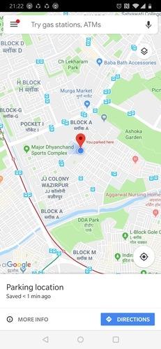 Google Maps Save Parking