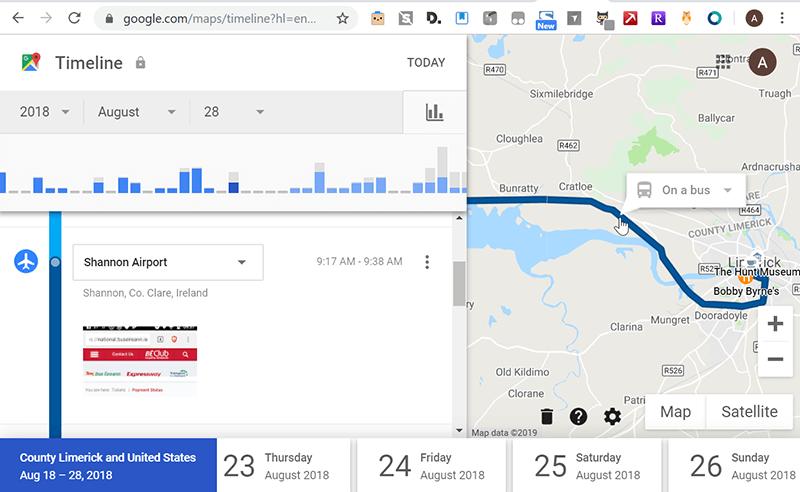 Google Personal Data Location History 2 Activity