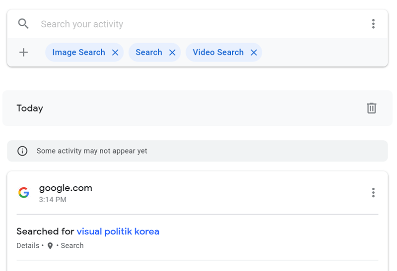 Google Personal Data Search 2 Results