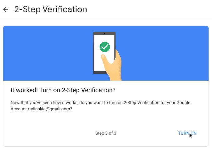Google Privacy Settings 2fa Confirm Code