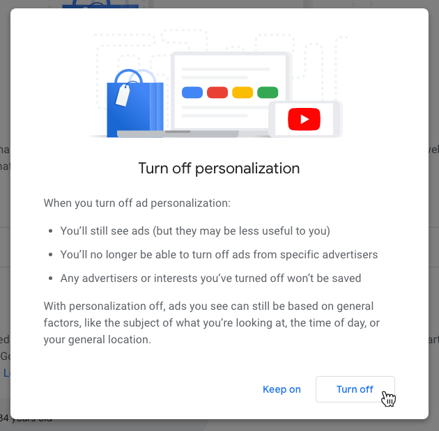 Google Privacy Settings Ad Personalization Confirm