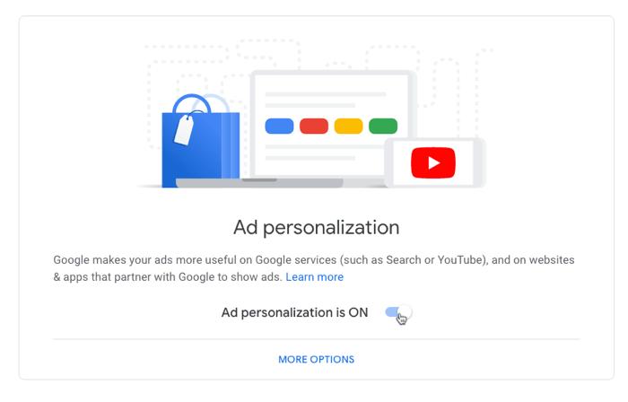 Google Privacy Settings Ad Personalization