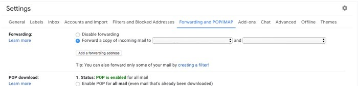 How To Leave Gmail Reclaim Privacy Set Forwarding Address 2