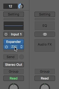 Logic Pro X Noise Removal Equalizer Opening
