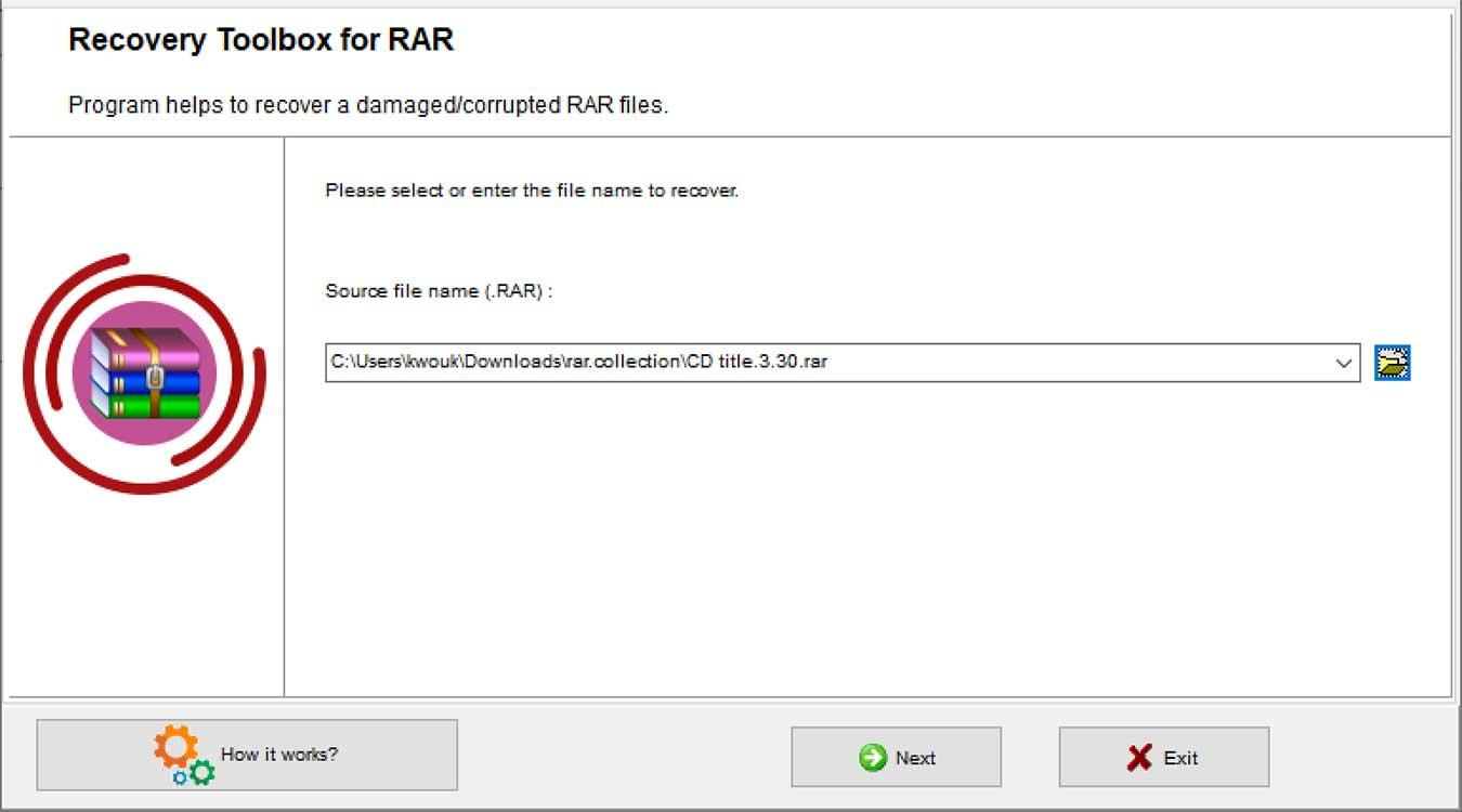 Recovery Toolbox Rar Choose File