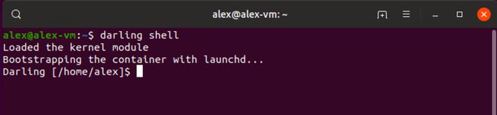 Run Macos Program Linux Load Darling Shell