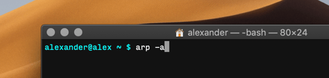 Scan Local Network Macos Terminal Arp A