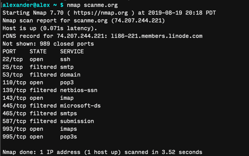 Scan Local Network Macos Terminal Nmap Output