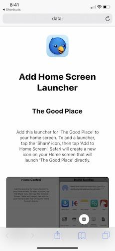 Shortcuts Apple Home Screen