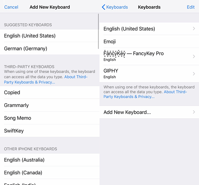 Third Party Keyboards Ios Add Keyboard