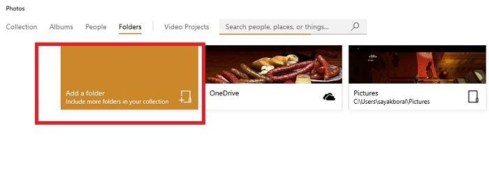 Add A Folder Photos App