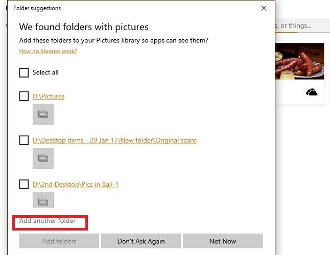 Add Another Folder Bali