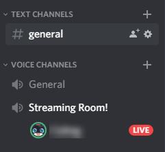 Discord Live Streaming