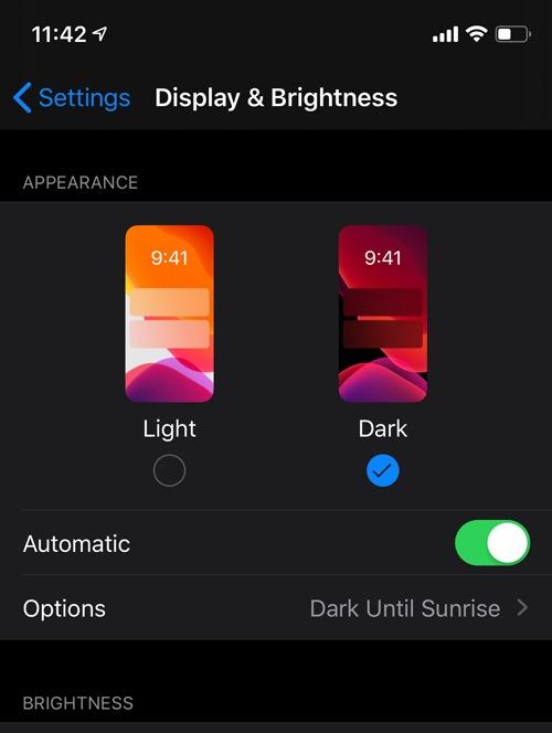 Enable Dark Mode Ios Enable