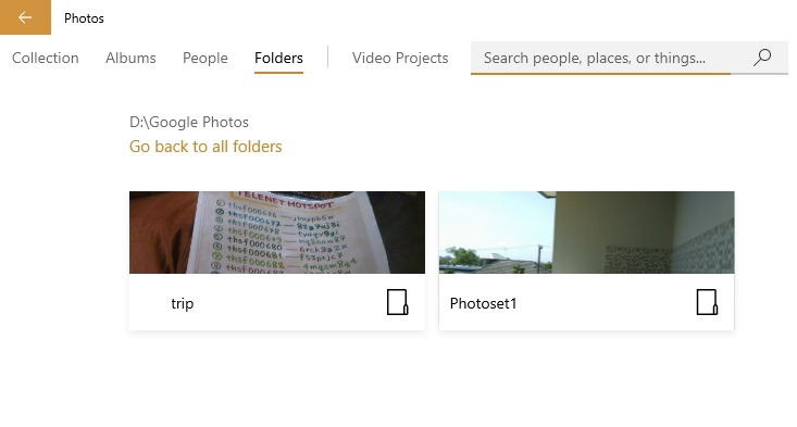 Google Photos Organized Windows 10 Photos App