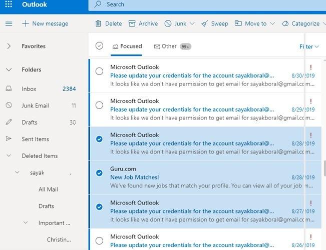 Outlook Interface