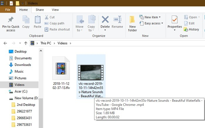 Saved Vlc Recorded File