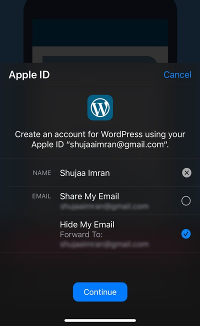 Sign In With Apple WordPress