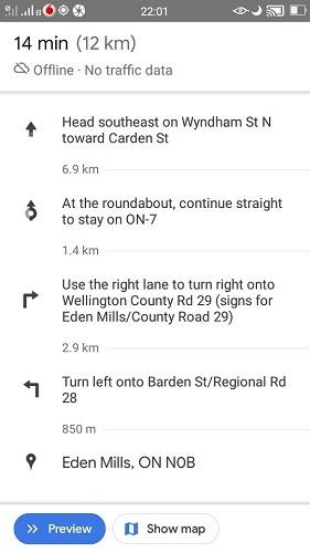 Using Offline Map