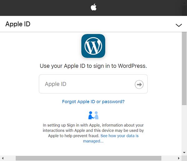Apple Sign In WordPress