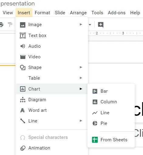 Chart Google Slides Insert Chart