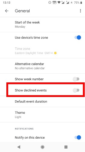 Get Rid Of Spam Google Calendar Declined Events Phone