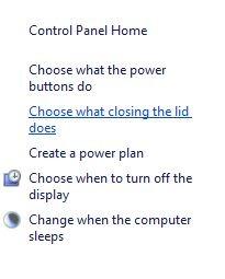Hibernate Power Option Closing Lid