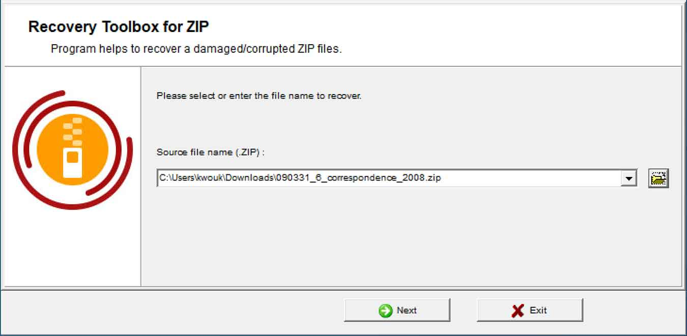Recover Toolbox For Zip Review Choose File