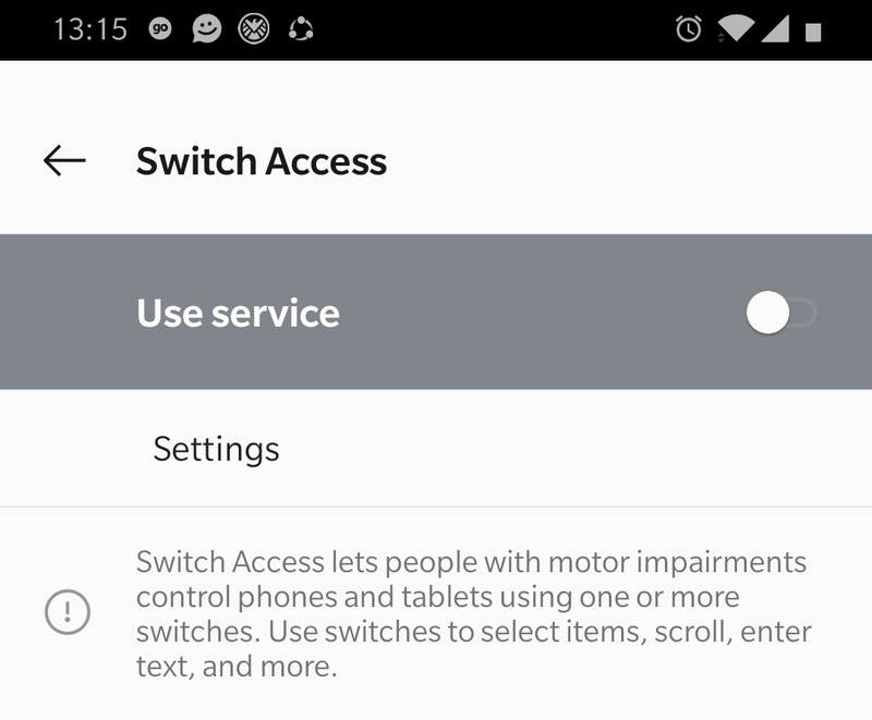 Switch Access Warning Page