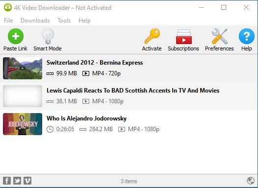 4k Video Downloader Main Interface