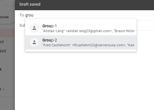 Add Groups In Gmail Compose