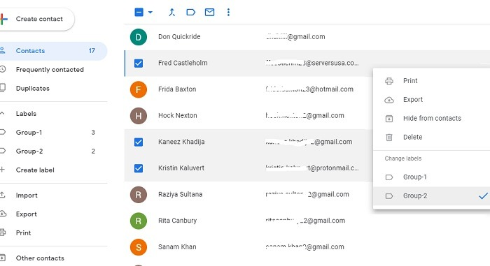 Adding Multiple Contacts To A Label Gmail