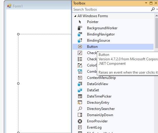 Button Visual Basic Forms